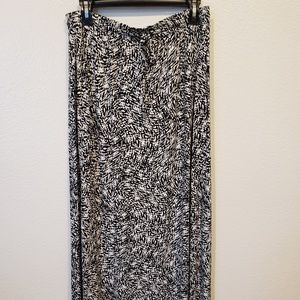 Cynthia Rowley New Maxi Skirt Black & White L